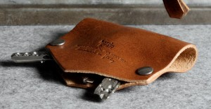 Hard Graft Leather Key Fold